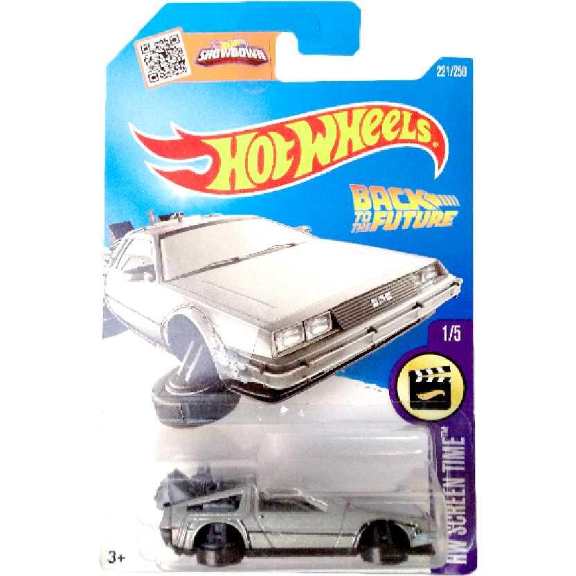 Carrinho 2016 Hot Wheels Time Machine Hover Mode Delorean 1/5 221/250 DHR29 escala 1/64