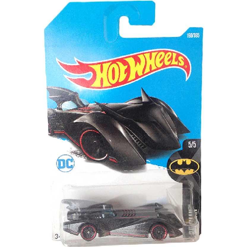 Carrinho 2017 Hot Wheels The Brave And The Bold Batmobile 5/5 190/365 DTY49 escala 1/64