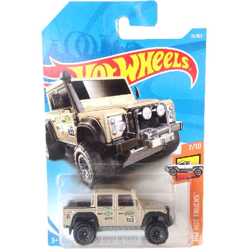 Carrinho 2018 Hot Wheels 15 Land Rover Defender Double Cab 7/10 31/365 FJV45 escala 1/64