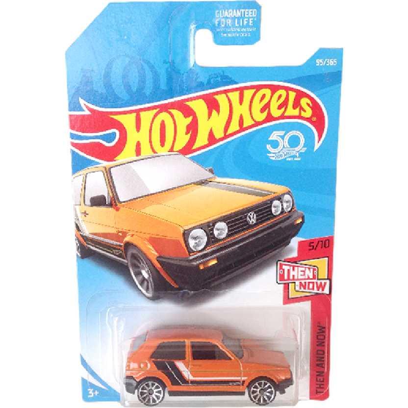 Carrinho 2018 Hot Wheels Volkswagen Golf MK2 5/10 95/365 FJX92 escala 1/64