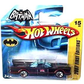 Carrinho Batmóvel Hot Wheels Coleção 2007 Batmobile Series TV (1966) 015 K6147