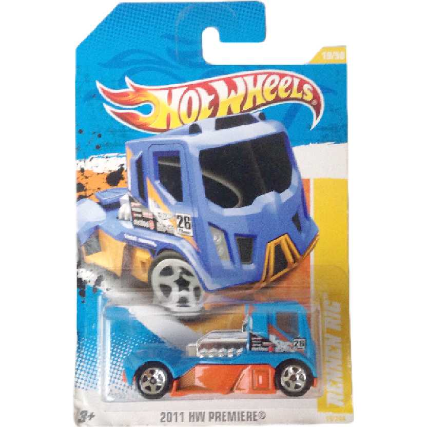 Carrinho coleção 2011 Hot Wheels caminhão Rennen Rig series 19/50 19/244 T9971 escala 1/64