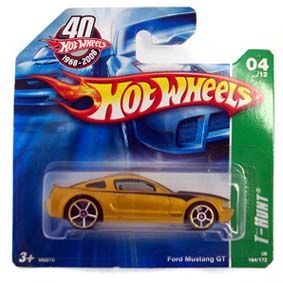 Carrinho da Hot Wheels 2008 T-Hunt: #04 Ford Mustang GT Series 164 M6970