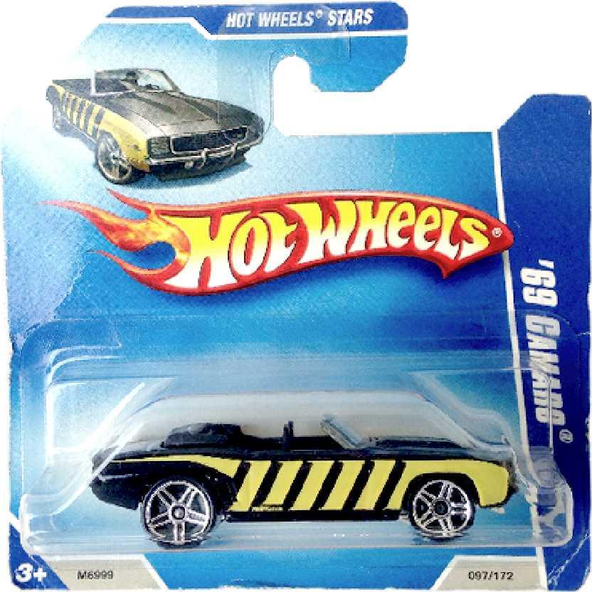 Carrinho da linha 2008 Hot Wheels 69 Camaro series 097/172 M6999 escala 1/64