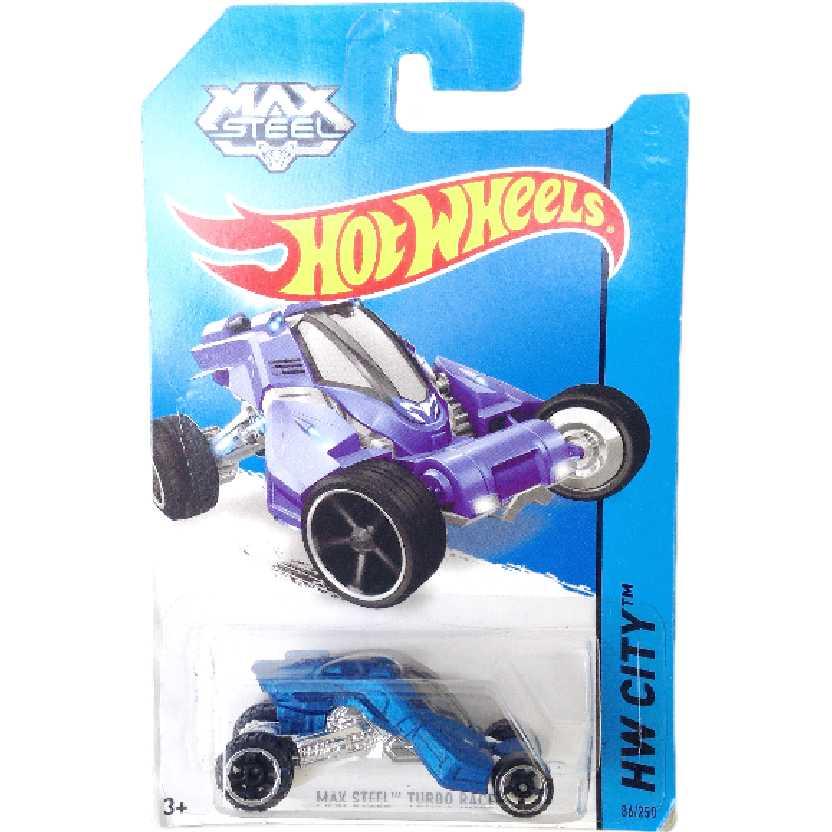 Carrinho da linha 2014 Hot Wheels Max Steels Turbo Racer series 86/250 BBF70 escala 1/64