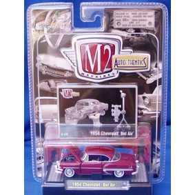 Carrinho de Coleção M2 Machines Chevrolet Bel Air (1954) série 4A R04A 31500