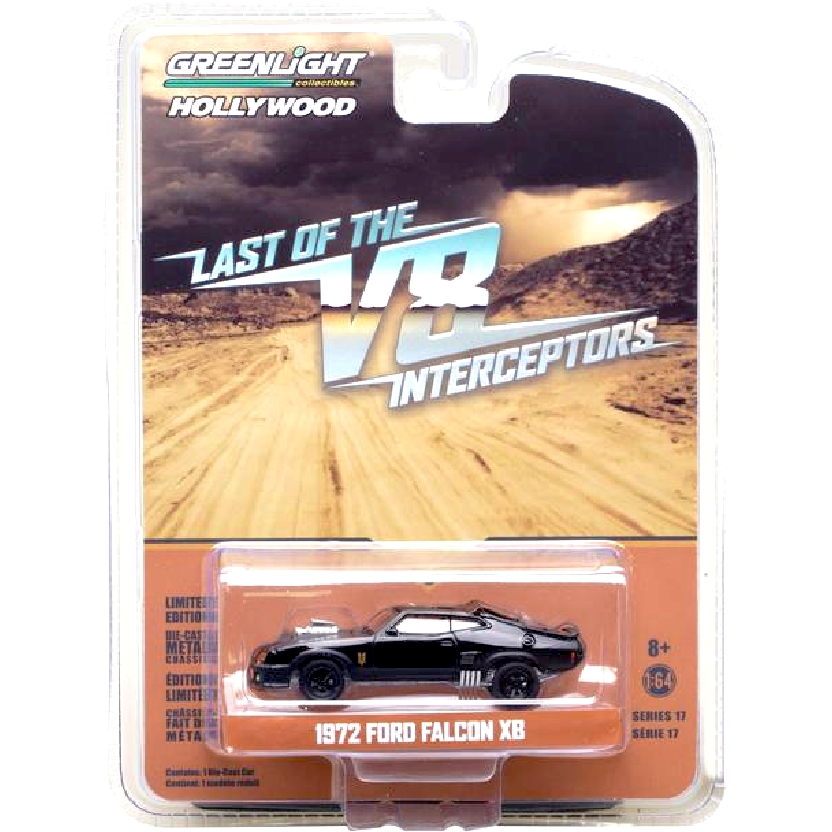 Carrinho do Mad Max Ford Falcon XB (1972) Last of the V8 Interceptors escala 1/64