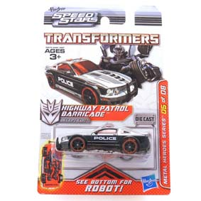 Carrinho Ford Mustang Transformers Speed Stars Barricade da Hasbro