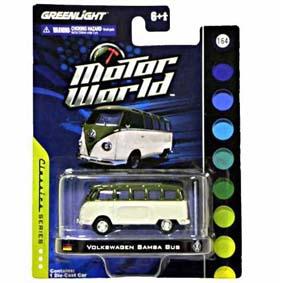 Carrinho Greenlight em Miniatura VW Samba Bus Kombi Motor World R3 96030