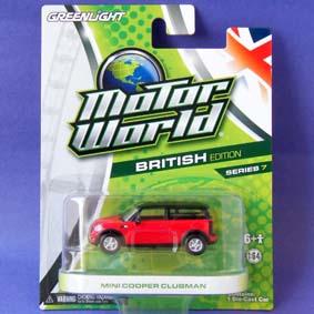 Carrinho Greenlight Motor World série 7 Mini Cooper Clubman R7 96070