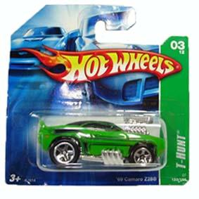 Carrinho Hot Wheels 2007 T-Hunt: #03 69 Camaro Z28 series 123 K7614