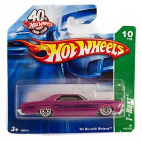 Carrinho Hot Wheels 2008 T-Hunt: #10 64 Buick Riviera series 170 M6976