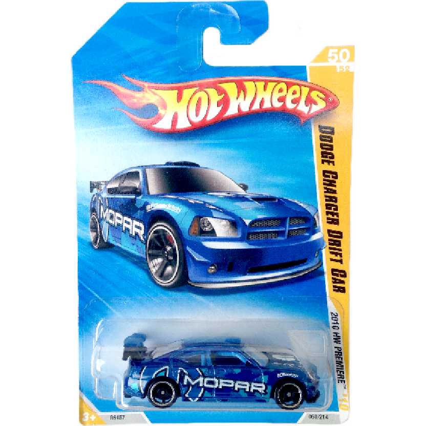 Carrinho Hot Wheels 2010 Dodge Charger Drift Car series 50/52 050/214 R6457 escala 1/64