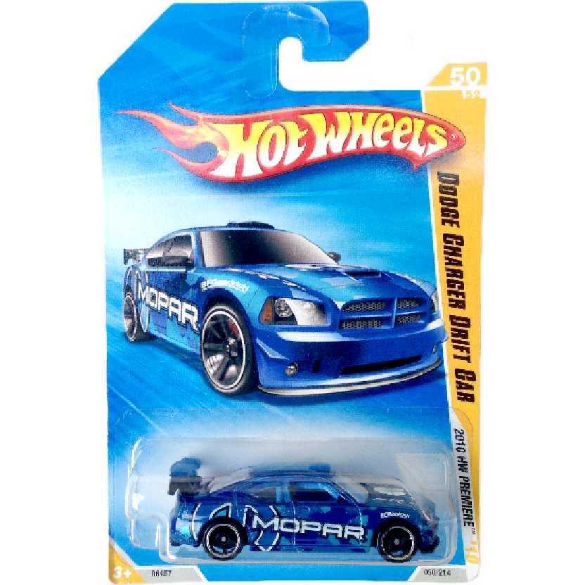 Carrinho Hot Wheels 2010 Dodge Charger Drift Car series 50/52 050/214 R6457 escala 1/64