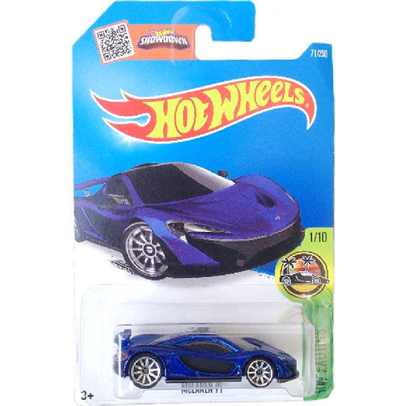 Carrinho Hot Wheels 2016 McLaren P1 series 1/10 71/250 DHP95 escala 1/64