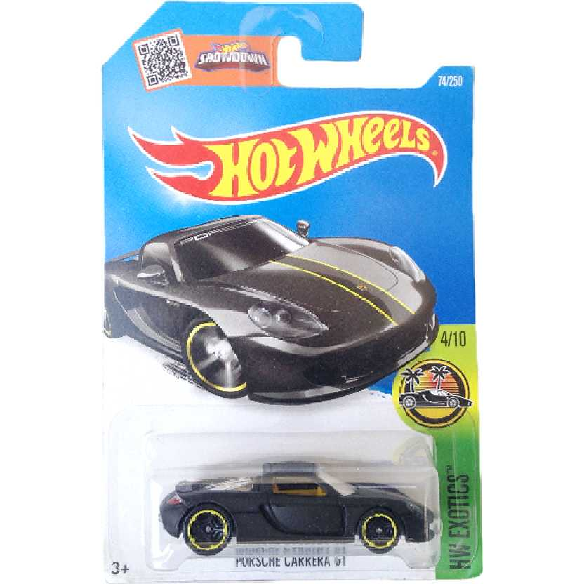 Carrinho Hot Wheels 2016 Porsche Carrera GT series 4/10 74/250 DHP98 escala 1/64