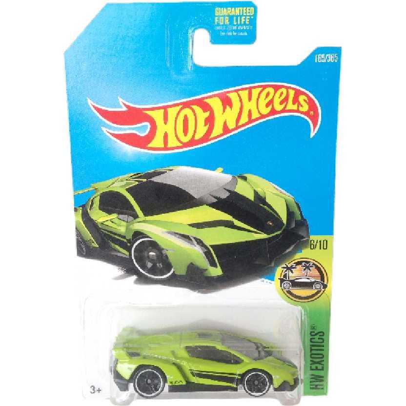 Carrinho Hot Wheels 2017 Lamborghini Veneno series 6/10 165/365 DVB09 escala 1/64