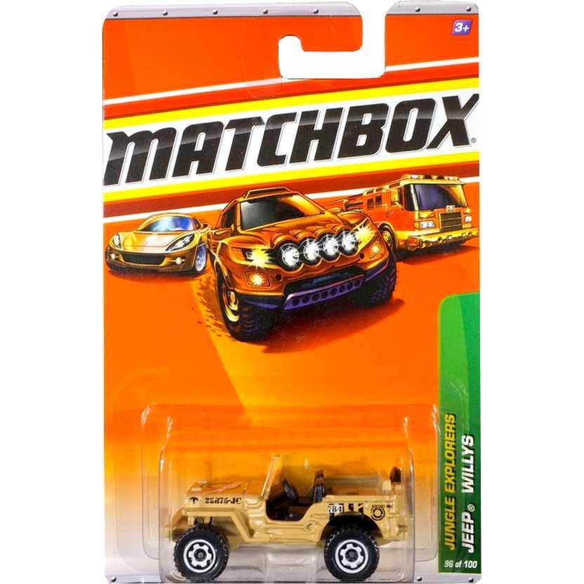 Carrinho Matchbox 2010 Jeep Willys escala 1/64 T1536