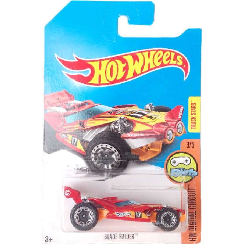 Carrinho T-Hunt Hot Wheels 2017 Blade Raider series 3/5 DVD13 escala 1/64