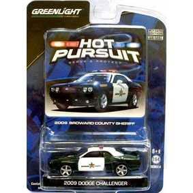 Carrinhos da Greenlight Dodge Challenger Broward Police (2009) R4 42610