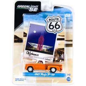 Carrinhos de Ferro Miniatura 1/64 Greenlight Dodge Pick Up D-100 (1965) R1 29700