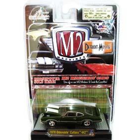 Carrinhos de Ferro para Coleção M2 Oldsmobile Cutlass 442 (1970) R4 31600
