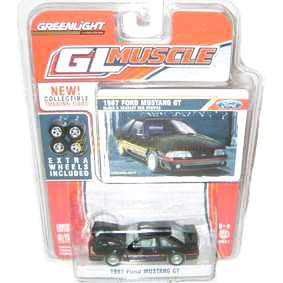Carrinhos escala 1/64 Greenlight GL Muscle Ford Mustang GT (1987) R1 13010