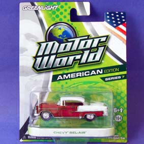 Carrinhos Greenlight Collectibles Motor World 7 Chevy Bel-Air (1955) R7 96070