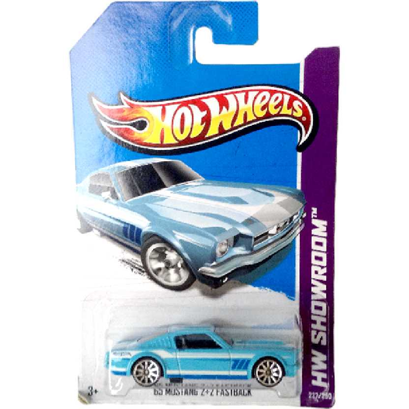 Carrinhos linha 2013 Hot Wheels 65 Mustang 2+2 Fastback series 237/250 X1998 escala 1/64