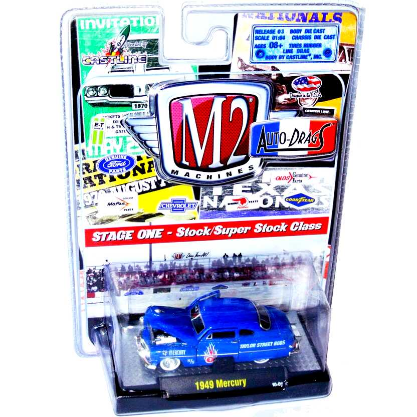 Carrinhos M2 Machines escala 1/64 - 1949 Mercury - Auto-Drags R3 31700 10-01