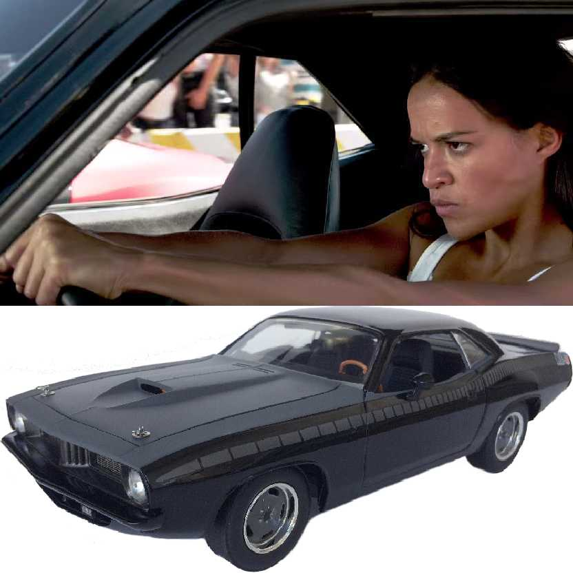 Carro da Letty Fast & Furious 7 Plymouth Barracuda 1970 Velozes e Furiosos Highway 61 1/18