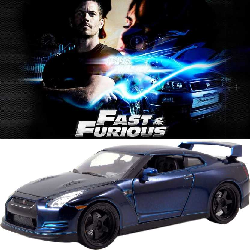 Carro do Brian: Fast and Furious 7 Nissan GT-R (2009) Jada Toys Velozes e Furiosos escala 1/24