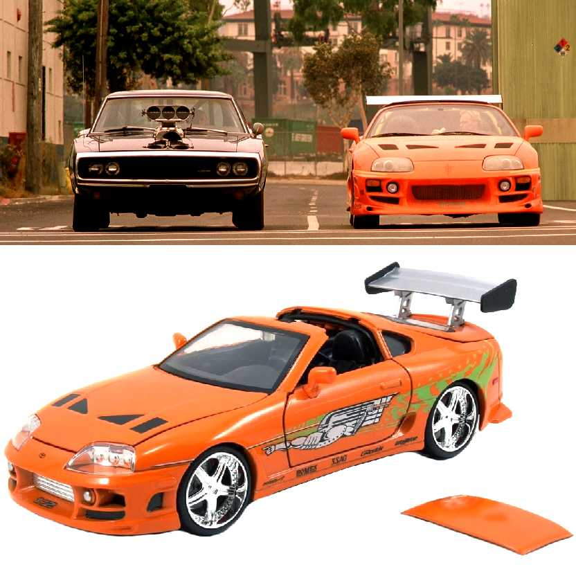 Carro do Brian Velozes e Furiosos 1 Toyota Supra (1993) Fast and Furious I Jada escala 1/24