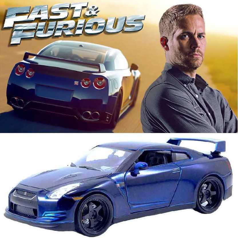 Carro do Brian: Velozes e Furiosos 7 Nissan GT-R (2009) Furious 7 Jada escala 1/18