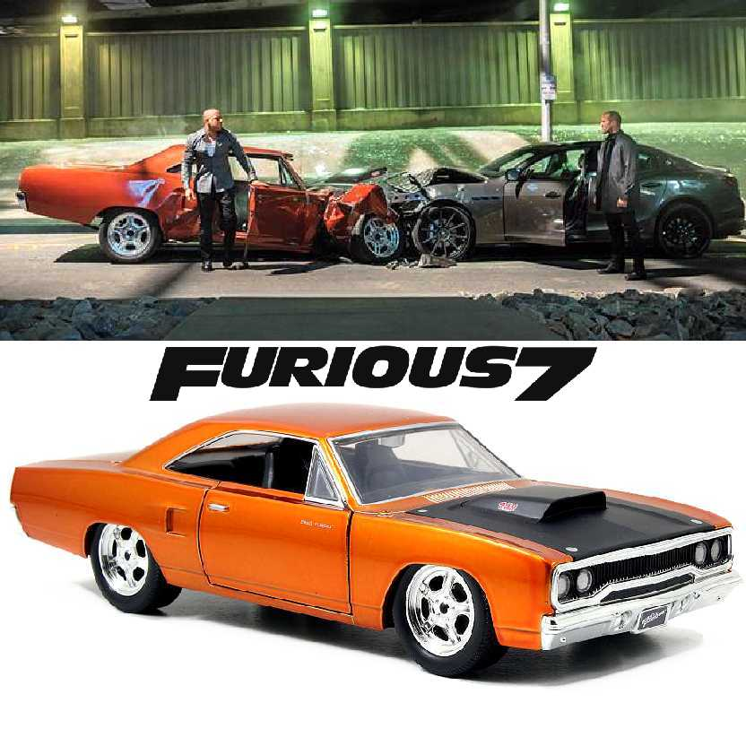 Carro do Dom Torreto: Fast and Furious 7 Plymouth Road Runner (1970) Jada escala 1/24