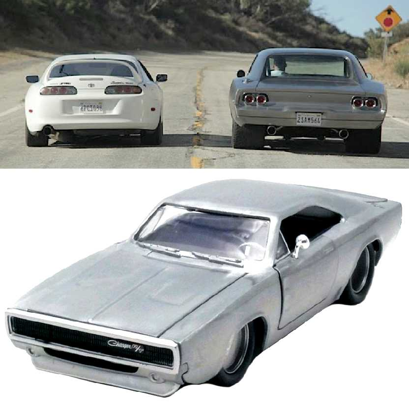 Carro do Dom Torreto: Furious 7 Dodge Charger (1968) Velozes e Furiosos 7 Jada escala 1/24