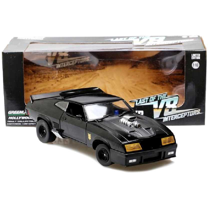 Carro do Mad Max Last of the V8 Interceptors 1973 Ford Falcon XB escala 1/18