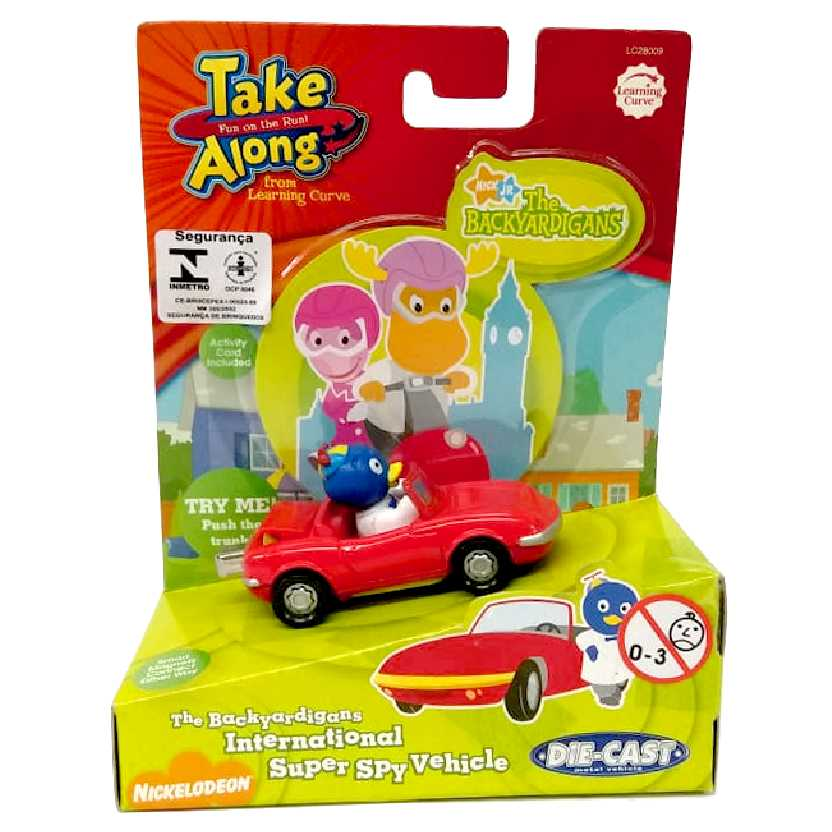 Carro do Pablo espião Backyardigans Take Along Learning Curve