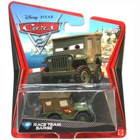 Carros 2 Brinquedos Cars II Disney Pixar Race Team Sarge ( Sargento )