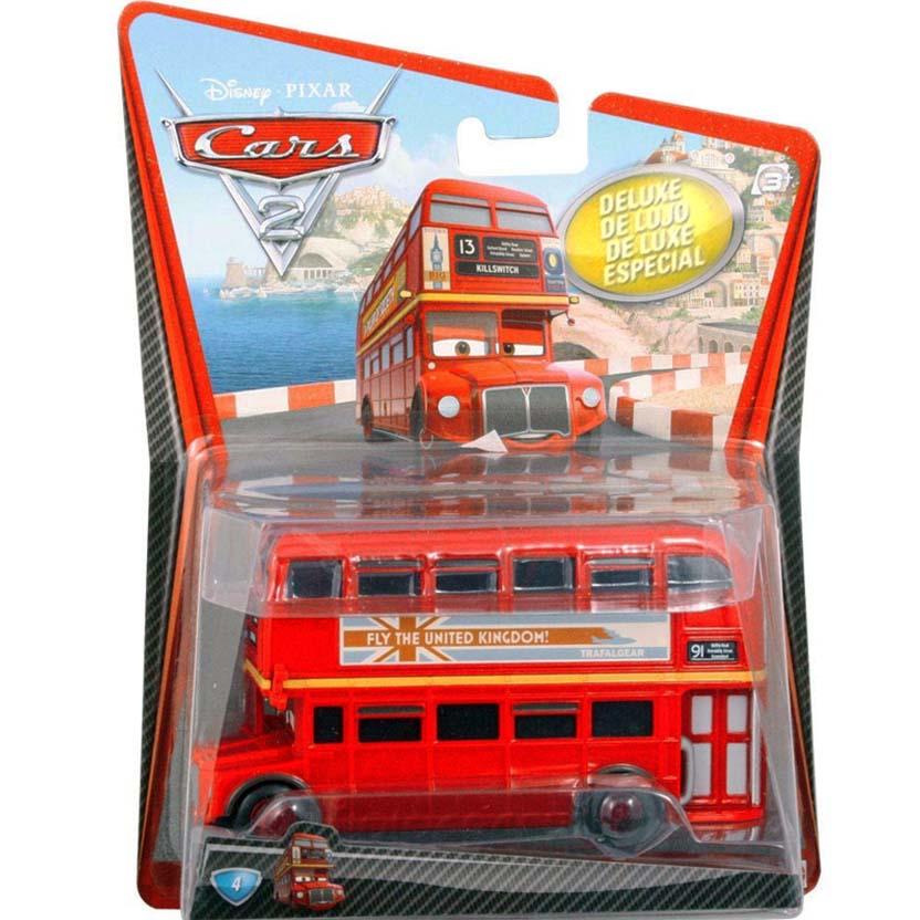 Carros 2 Disney Pixar ( Cars 2 ) Double Decker Bus número 4 ônibus de dois andares