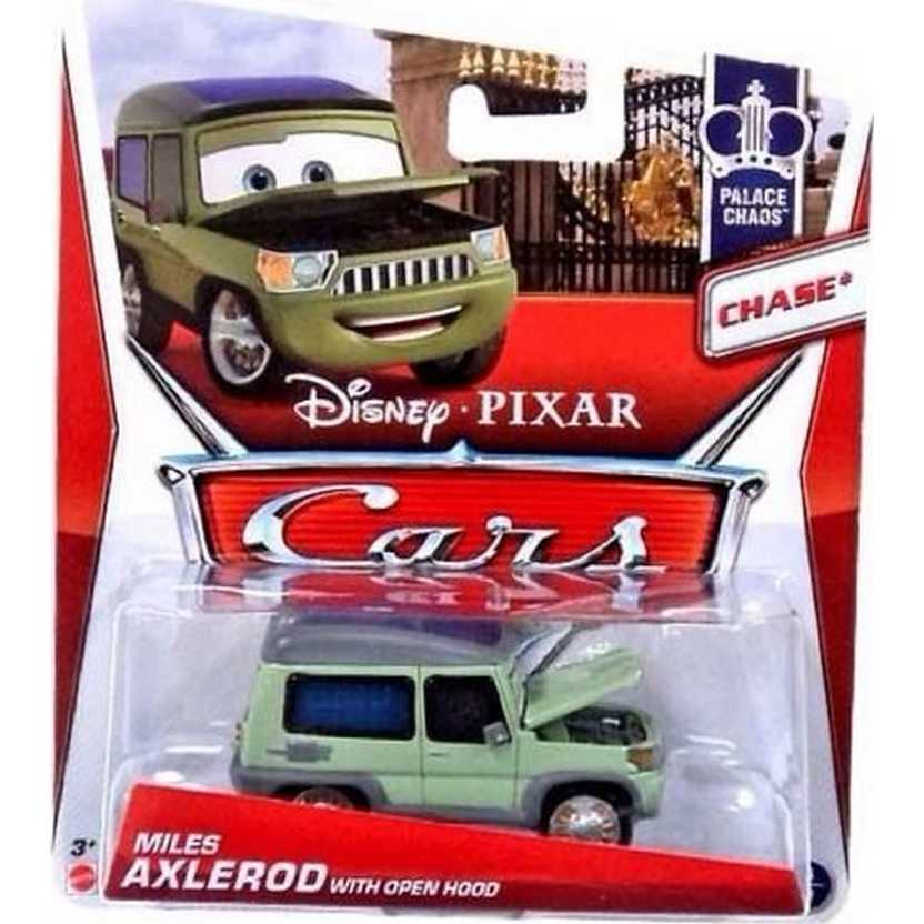 Carros 2013 Disney Pixar Cars Miles Axlerod with Open Hood 4/9 ( Chase )