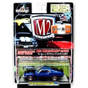 Carros Colecionáveis M2 escala 1/64 Ford Mustang Boss 302 (1970) R3 31600