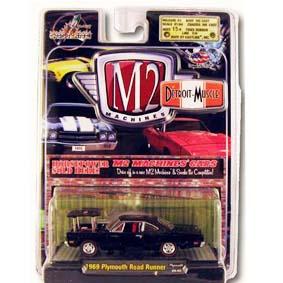 Carros em Miniatura 1/64 Coleção M2 Plymouth Road Runner (1969) R3 31600