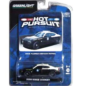 Carros Greenlight Hot Pursuit 1/64 Dodge Charger Florida Police (2008) R4 42610