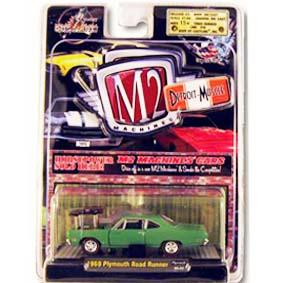 Carros Miniaturas de Coleção M2 Plymouth Road Runner (1969) escala 1/64 R3 31600