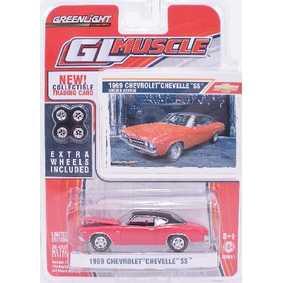 Carros na escala 1/64 Greenlight Chevrolet Chevelle SS (1969) R1 13010