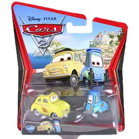 Cars 2 Luigi and Guido - Carros 2 Disney Pixar Mattel diecast #10/11