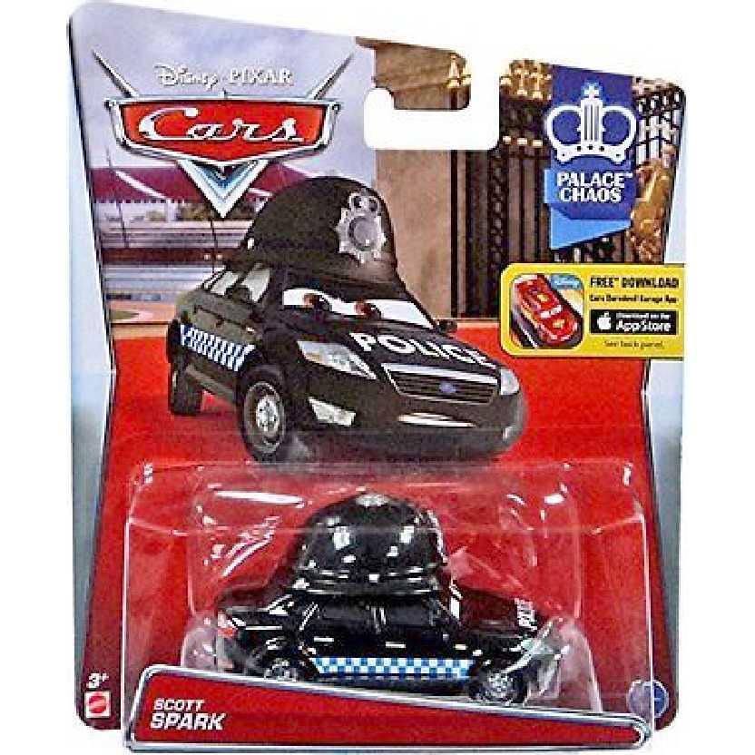 Cars Disney Pixar Scott Spark Police escala 1/55 Palace Chaos número 6/7