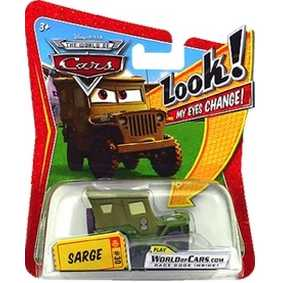 Cars Sarge (olho com movimento)