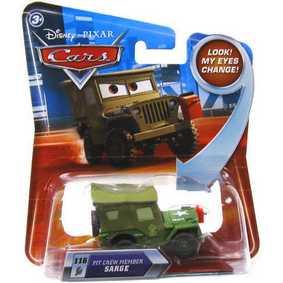 Cars Sarge (olho com movimento)